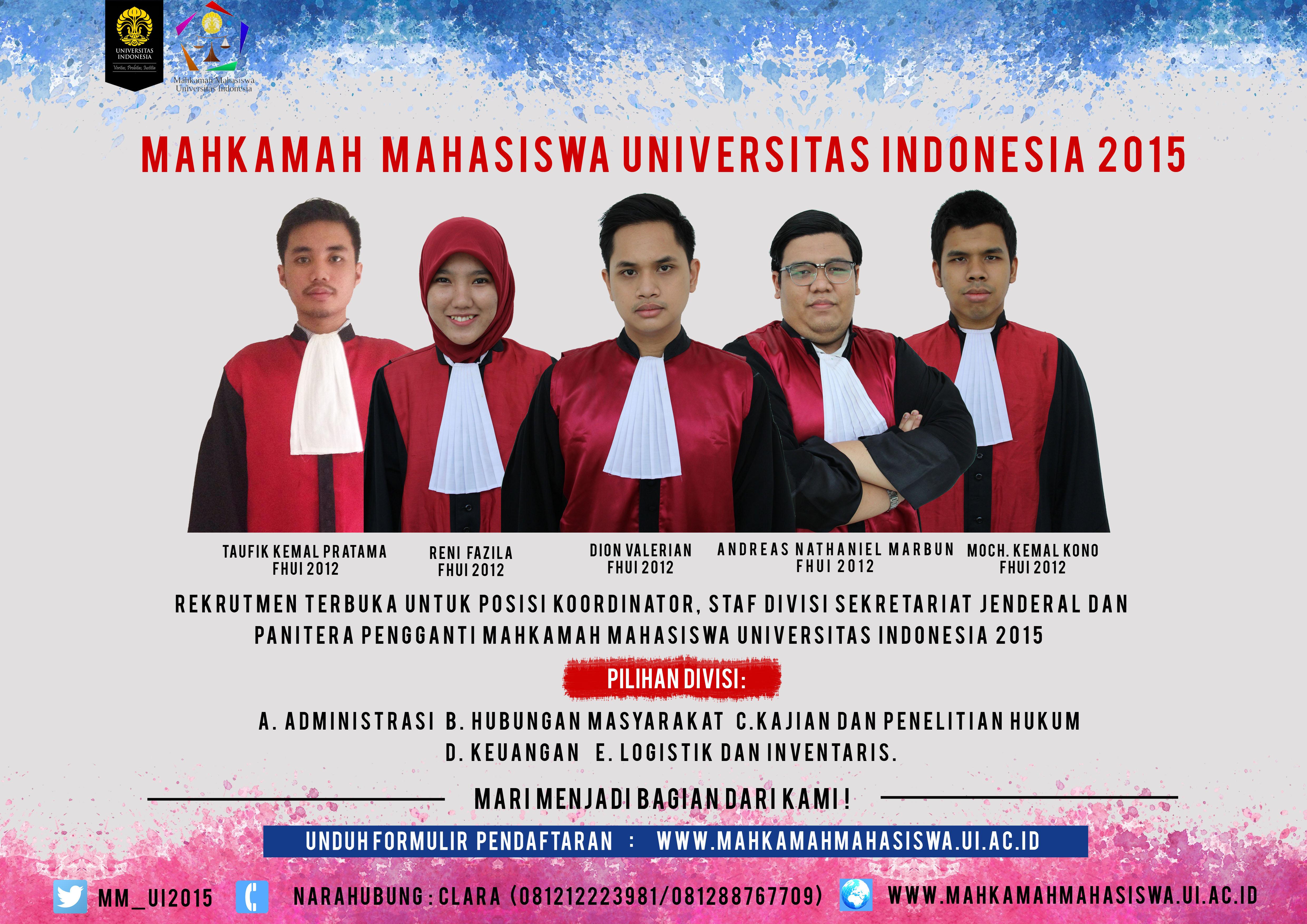 Poster Rekrutmen Terbuka MM UI 2015
